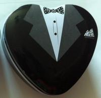 Wedding   Bride groom Mint tin wedding favor box 600PCS LOT free shipping dressed to the nines wedding candy box