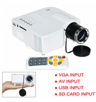 Wholesale Mini AV LED Digital Video Game Projector with Remote control Native X Multimedia player Inputs AV VGA USB SD card H176