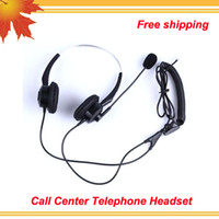 best noise cancelling telephone headset - free Professional earphones Best headset RJ connector Noise cancelling Binaural call center phone headsets