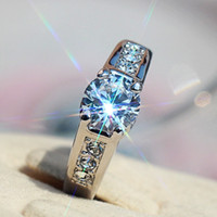 "Asian & East Indian Men's Gift Free shipping,""Only boutique"" CZ diamond wedding engagement ring female models Hearts and Arrows Ring jewelry simulation"