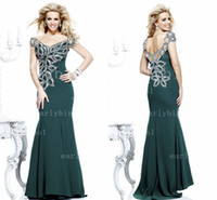 Reference Images Off-the-Shoulder Satin 2013 Hot Selling Tarik Ediz Formal Evening Dresses Off Shoulder Embroidery Sequins Satin Mermaid Long Prom Pageant Gowns TE 92200