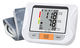 Wholesale Fully Automatic Digital Upper Arm Blood Pressure and Pulse Monitor Sphygmomanometer Portable Blood Pressure Monitor