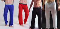Men Boxers & Boy Shorts Sexy Sexy Men'S Comfy Long Trousers Pants Male See-Through Mesh Underwear Lingerie GYM Causal Transparent Erotic Shorts Bottoms