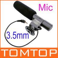 Wholesale SG Stereo Shotgun Electret Condenser Microphone for mm Nikon Cannon Olympus Sony DSLR DV Handycam Camcorder D876