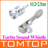 Wholesale Universal Turbo Sound Whistle Exhaust Pipe Tailpipe Fake BOV Blow off Valve Simulator Aluminum Size S M x2 cm K886