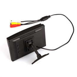 """5"""" Digital Color TFT 16:9 LCD Car Reverse Monitor with 2 Bracket holder for Rearview Camera DVD VCR Multi-language Russian K917"""