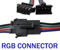 Wholesale Freeshipping set PIN Male and Female RGB connector Wire Cable For SMD LED Strip