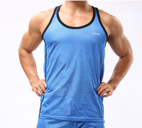 Wholesale Polyester Men Vest Men Sport Tank Tops Mens Active Mesh Undershirt