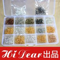 Wholesale A Box Assorted Items Fashion Jewellery Earring Findings Earwires Ear Hooks French Ear Hooks Set