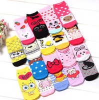 Wholesale Kids Cartoon socks Baby socks more kinds designs Children original random mixed disigns socks