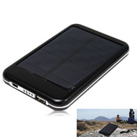 Wholesale 5000mAh Solar Power Bank USB Backup Battery Charger For Mobile Phone GPS iPDA Tablet