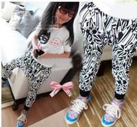 Wholesale girls fashion harem pants kids morden trousers popular costume children garment autumn clothing