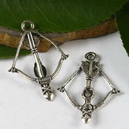 20pcs Tibetan silver arrow bow charms H2987