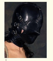 Wholesale 1 Soft leather bondage Mask eyepatch gagged Headgear Adult sex toys B1002