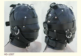 Wholesale 1 Soft leather bondage Mask eyepatch gagged Headgear Adult sex toys B1007