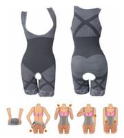 Wholesale New Arrivals Womens Ladies Slimming Bamboo Underbust Shapewear Shaper Suit Body Control Bodysuit Nx12
