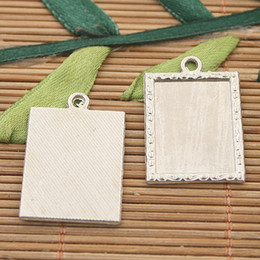 15pcs silver tone picture frame charms H3037