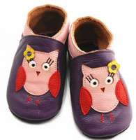Wholesale 1Pair infant owl first walker shoes baby elephant walking shoes Baby Genuine Leather Walking Shoes