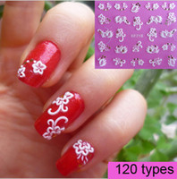 Wholesale HOT SALE styles European fashion D carving Nail Art Sticker Tips Decal Decoration t5562