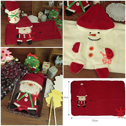 Wholesale New Snowman Kids blanket Baby Blanket Christmas Blankets x60cm