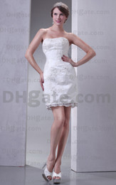 Wholesale 2013 Newest Wedding Dresses Fashion Appliques Beaded White Mini Bridal Dresses Real Image Z194 dhyz