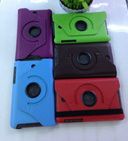 Wholesale colorful Rotating PU Leather Smart Case For inch ASUS MeMO Pad HD ME173X