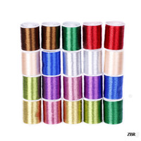 Wholesale 20 Rolls One Box meters per roll Machine colorful Useful Rayon Embroidery Sewing Floss Thread ZBR