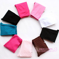 Wholesale Candy Color Pure Cotton Pants Baby Clothes Girls Plain Legging Elastic Girl Legging Dots Tights