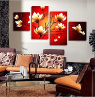 Wholesale 4 Pieces Large Modern Abstract Art Oil Painting Wall Decor Canvas NO Frame