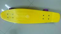 """Butterfly Board Plastic 27 inch Free Shipping Penny Nickel 27"""" Yellow Longboard Cruiser Skateboard Longboard"""