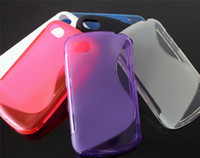 Wholesale S Line TPU Gel Case Soft Back Cover Rubber for Blackberry BB Q10 Colorful Free DHL