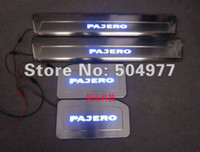 Wholesale LED door sills sill plate for Mitsubishi Pajero V73 V77 V93 V97 high quality auto accessories stainless steel
