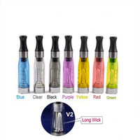 Electronic Cigarette Atomizer clear 30 Pcs lots High quality eGo CE4 V2 long wick Clearomizer ce4 Cartomizer Cheap Ce4 Atomizer for e cig for Chrismas Electronic Cigarette Ego