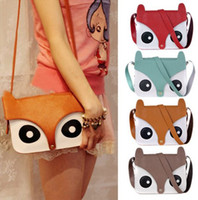 Fashion Women Retro Fox Owl Shoulder Bag Messenger School Sa...