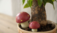 polyresin statue - Small Mushroom Figurines Set of Polyresin Mushroom Statues Mini Accessories for Potting Planter Home Décor Photography Scenery