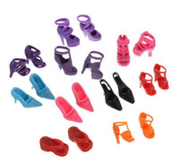 5-7 Years doll shoes - Mix Styles Doll Shoes For Barbie Dolls High Quility Toy Doll Girl Accessaries pairs