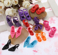 Unisex doll shoes - Mix Styles Doll Shoes For Barbie Dolls High Quility Barbie Accessaries pairs