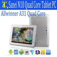 Wholesale 10 inch Sanei N10 Allwinner A31 Quad Core Ultimate Version IPS Tablet PC Android GB GB