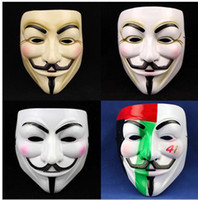 Wholesale V For Vendetta Mask colors mixed Party Carnival Halloween Dance Masquerade