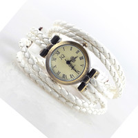 Wholesale fashion sttyle hot women long band weave dress quartz wristwatch JQ brand bracelet watch one piece r