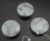 Chirstmas baseball key chains - mm baseball slide charm New fit mm key chain