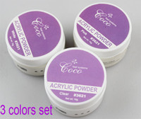 acrylic powder acrylic nail systems - Excellent Quality COCO Brand Colors Polymer Acrylic Powder set For Nail System Fake Fingernail Extend Beauty Tool Design