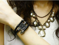 Antique antique gold snake bracelet - Roman Numerals Snake plate woven watch Fashion Vine Snake Leather Bracelet Quartz Wrist Watch