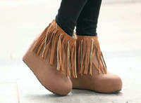 Wholesale Cheap New Style Tassles Lady Snow Boots Slipsole Suede Boots A5
