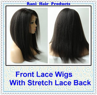 Wholesale Rani Hair Brazilian Remy Human Hair Front Lace Wigs With Stretch Lace Back B Inch Kinky Straight Various Shipment NE031