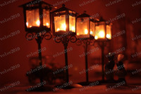 Wholesale LLFA1145 European Style Street Light Shape Iron Candlestick Candleholder