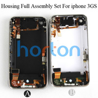 Wholesale Black White Complete Full Back Cover Housing Assembly for iPhone GS GB GB GB horton AF095