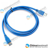 Wholesale 1 m m m USB A Female to A Male Computer Cables Computer extension Data Sync Cord Cables Blue