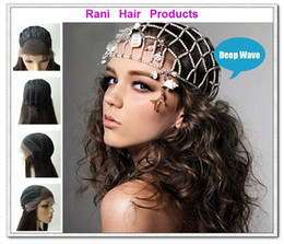 Wholesale Rani Real Images Brazilian Human Hair Front Lace Wigs With Weft Back B High Light quot quot quot quot Deep Wave Various Shipment KD22