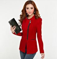 Wholesale spring autumn zipper slim women jacket two dress ways women designer blazers medium long small suits jackets women blazers